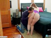 BBW Fat Sexy bitch loves sex with slim mummies