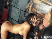 Alura Jenson - BDSM shemale orgy in the basement