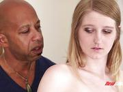 Teen blonde Summer Carter  takes big black dick in her tight hole