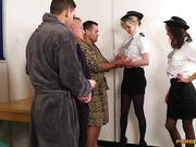Mercedes, Nadia Elaina - A female police officer and her assistant porn in prison