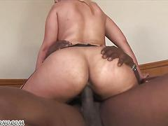 Big booty Busty secretary takes her master's black dick in her holes