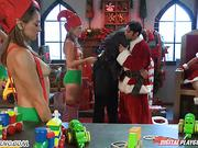 Mrs. Claus gets fucked in a toy factory