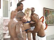 Crazy gangbang. Five cocks for a blonde Kagney Linn Karter