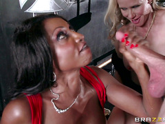 Young boy fucks his stepmother and her friend in a nightclub