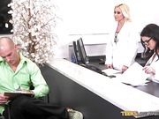 Teens doctors seduced their mature Assistant