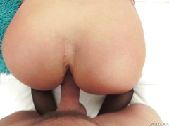 Lustful cocksucker takes a fat dick in her ass