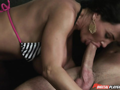 Amazing sex with a beautiful mature woman with a perfect body and her young lover