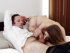Fresh busty starlet has amazing sex with an adult male