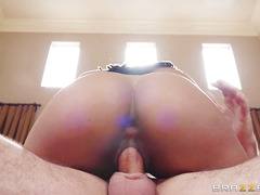 A tanned minx wants to know if you are as good as your cock