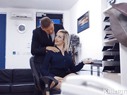 Office porn with slutty big boobs whore and her employee