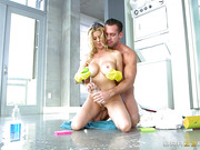 Beautiful mature woman Alexis Fawx prefers big boys