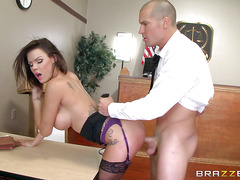 Perfect body Peta Jensen takes huge cock in courthouse