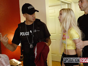 Strict policeman pushes and banges poor whore