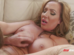 Richelle Rya - Young boy fucks his stepmother's big boobs
