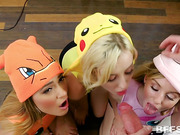 Cosplay fetish orgy with Haley Reed and her friends