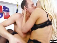 Luna Star - Interracial porn in the president's office