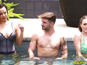 Krissy Lynn - Cold pool and hot fucked outdoor