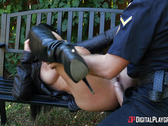 Street porn with horny flasher Romi Rain and police officer Keiran Lee