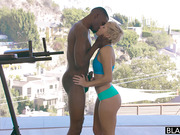 Black coach fucks athletic young housewife Makenna Blue