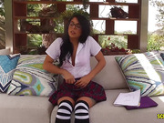 Gina Valentina - Playful college girl in short skirt