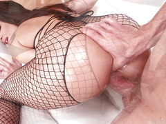Anal porn with horny slut Kissa Sins and her husband