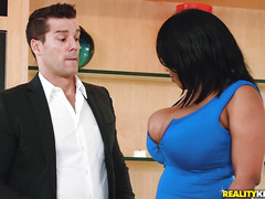 Interracial porn with fat woman Dominique Marley and her lover Ramon Nomar