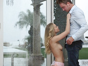 Sex with charming pretty blonde Staci Carr and her stepbrother