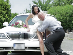 My wife gets fucked by driver before our wedding