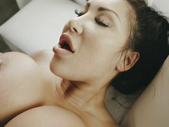 Interracial sex with horny Asian August Taylor and black guy