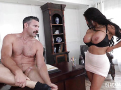 Rude American Charles Dera and horny mature woman