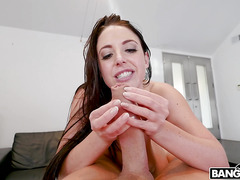 Massage for my tight fat pussy on the massage table