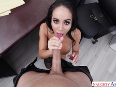 Big latin boobs secretary Victoria June gets fucked in the office