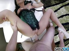 Sexy latin whore on GoPro camera