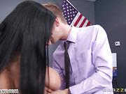 Slutty schoolgir takes herl teacher's big dick on the desk